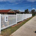 picket fencing with letterbox